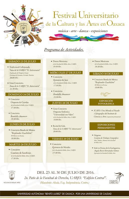 Festival Universitario de la Cultura y las Artes en Oax2
